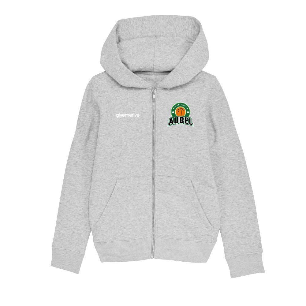 Sweatshirt capuche zip enfant – Aubel