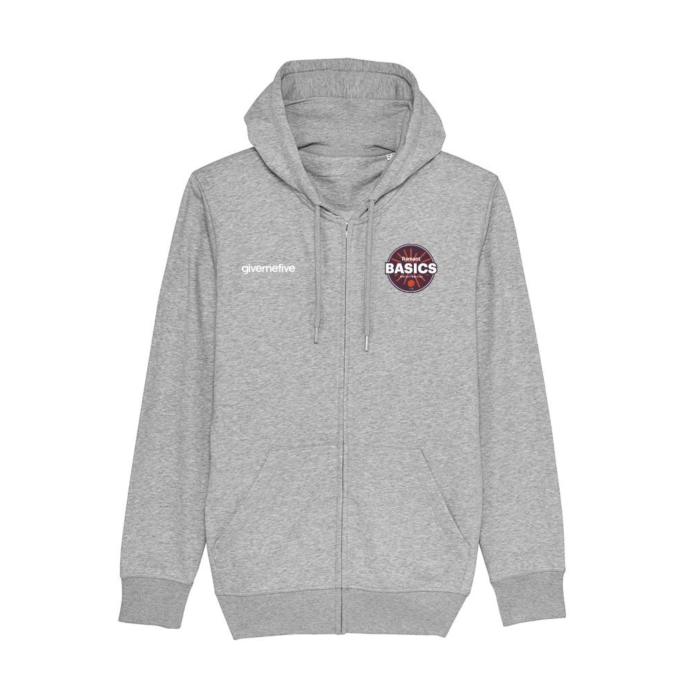 Sweat-shirt capuche zippé – Basics Melsele