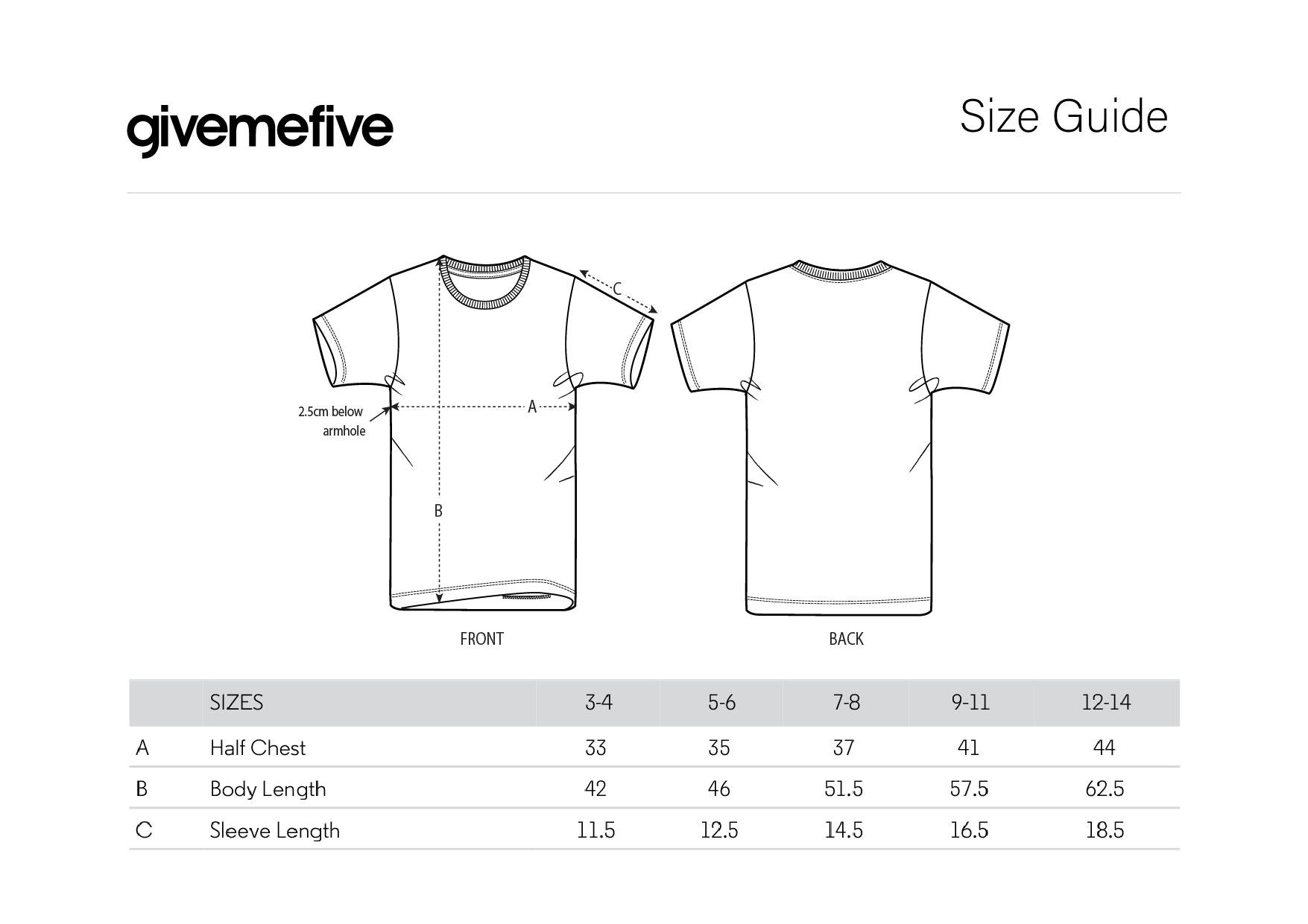 givemefive_taille _t-shirt_enfant