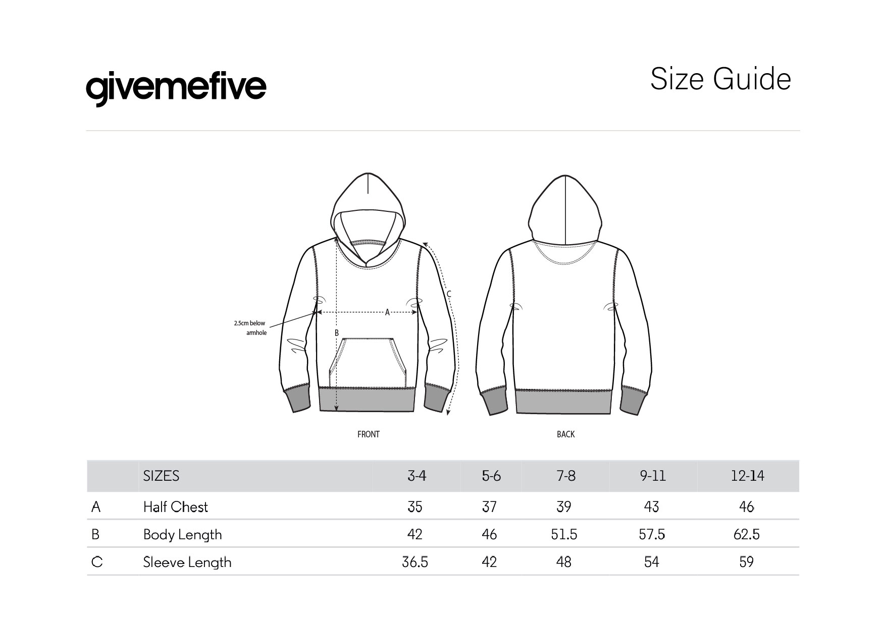 givemefive_taille_enfant_hoodie
