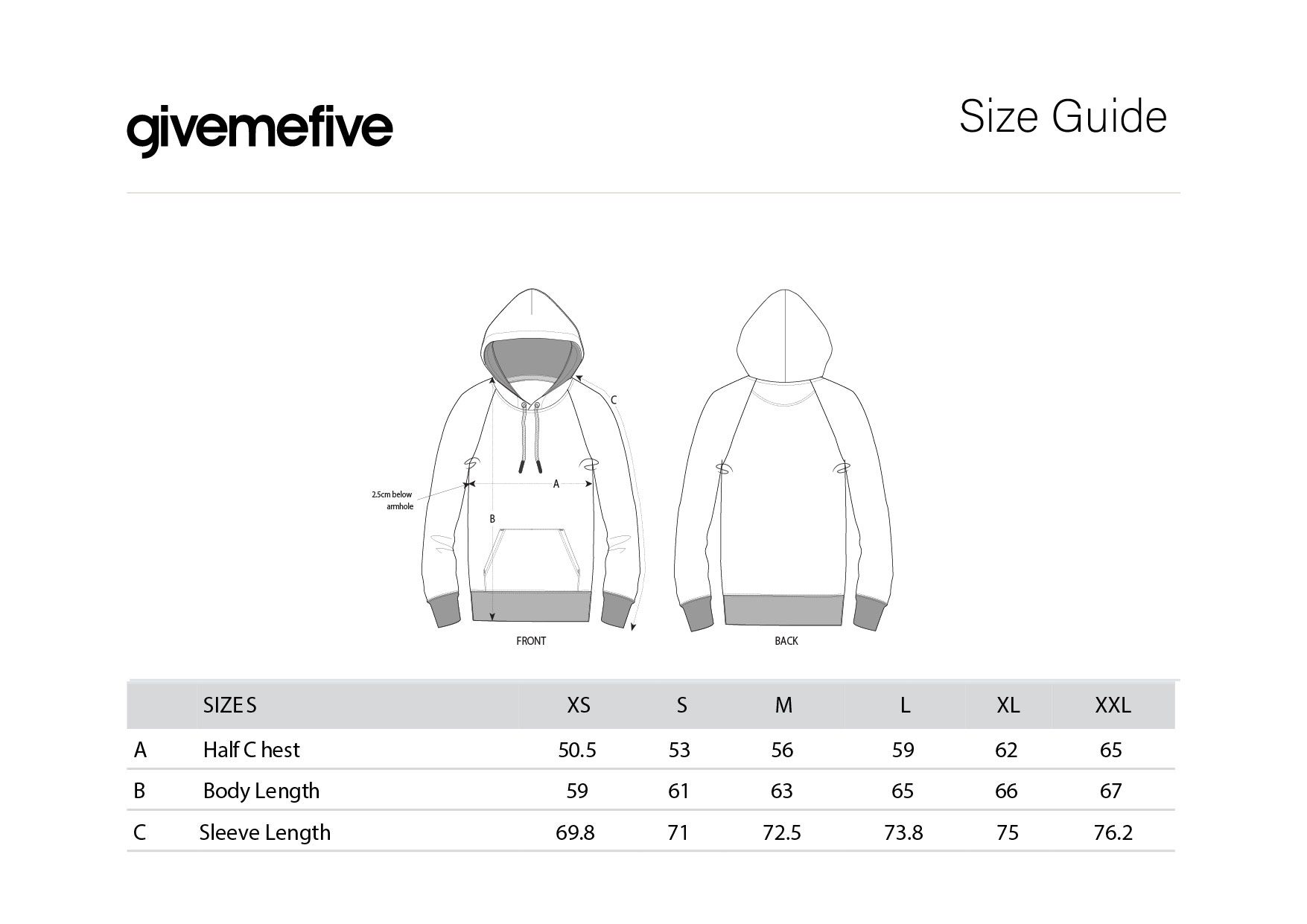 givemefive_taille_femme_hoodie