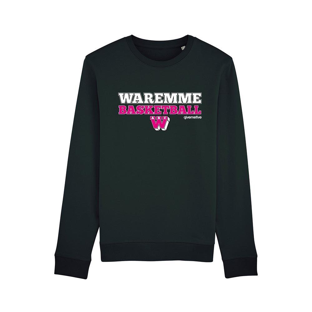 Sweat-shirt col rond – Waremme Basketball black/pink