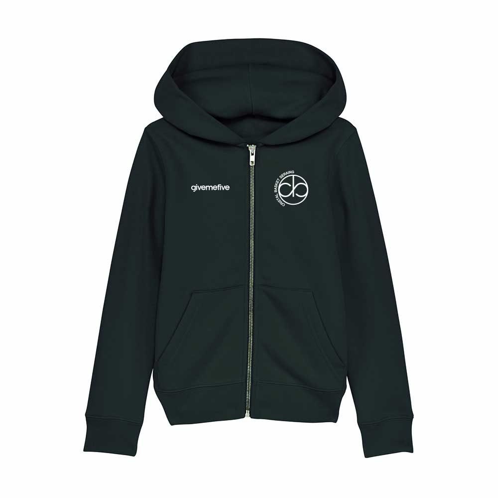 Sweatshirt capuche zip enfant – Cristal Seraing