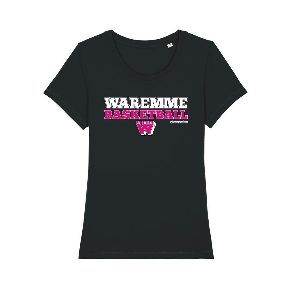 T-shirt femme - Waremme Basketball black/pink