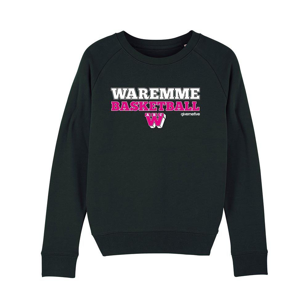 Sweat-shirt col rond femme – Waremme Basketball black/pink