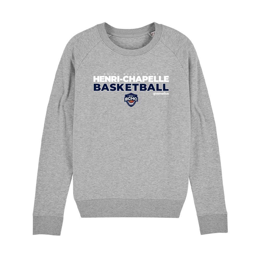 Sweat-shirt col rond femme – Henri-Chapelle Basketball
