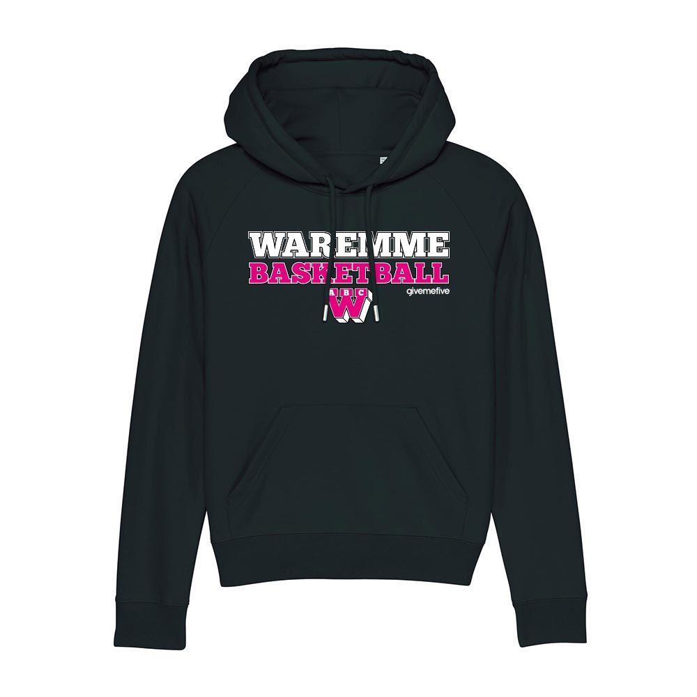 Sweat-shirt capuche femme – Waremme Basketball black/pink