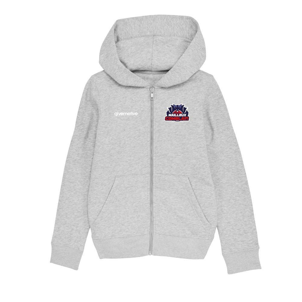 Sweatshirt capuche zip enfant – Comblain Basketball